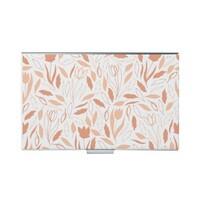 Rectangular leather card case