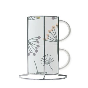 Cup Set with Metal Stand (2 Cups)