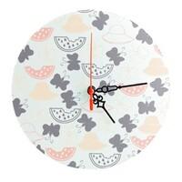 Round Glass Wall Clock