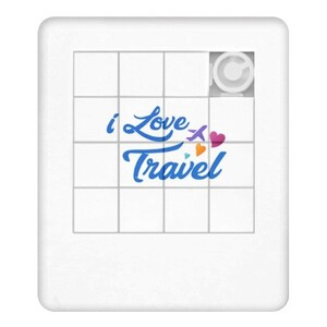Puzzle Plate (I LOVE TRAVEL)