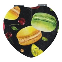 Heart Shaped Imitation Leather Compact Mirror