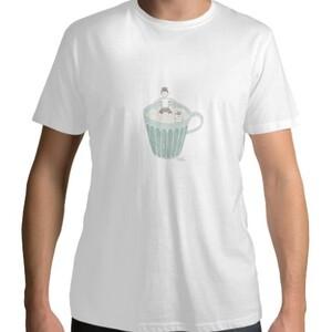 餐桌小旅行-茶杯  /  Men 's Cotton Round Neck T - shirt