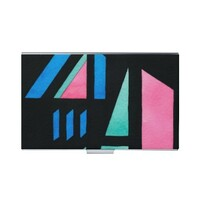 長方形皮紋名片盒