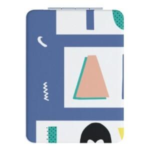 長方形皮紋鏡盒