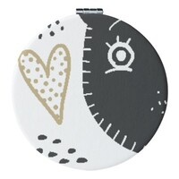 圓形皮紋鏡盒