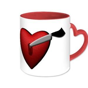 Knife Heart - Inner & Handle color Mug