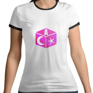 AMS Magic Box - Women 's Cotton Color Round Neck T - shirt