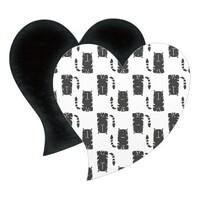 心形磁石貼