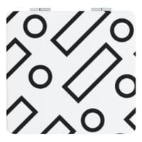 方形皮紋鏡盒