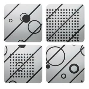 方形鋁杯墊(4件裝)