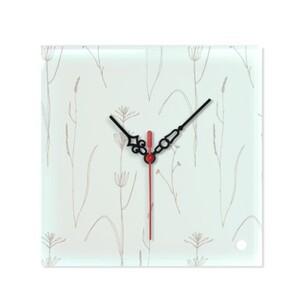 玻璃方形掛牆鐘 (可座枱)