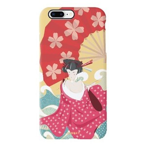 桃花运艺伎iPhone 8 Plus TPU Dual Layer Protective Case