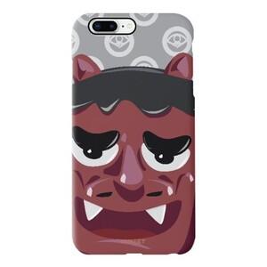 食货能面面具iPhone 8 Plus TPU Dual Layer Protective Case