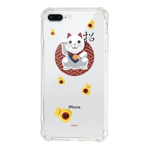 幸运招财猫iPhone 8 Plus Transparent Bumper Case(Fully transparent)