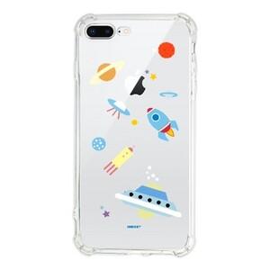 星际迷航坠落星球iPhone 8 Plus Transparent Bumper Case(Fully transparent)