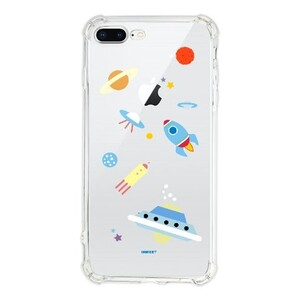星际迷航坠落星球iPhone 8 Plus Transparent Bumper Case(Fully transparent)