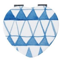 心形皮紋鏡盒