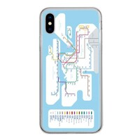 MTR 港鐵線路圖iPhone Xs Tempered Glass Transparent Case