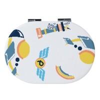 鵝蛋形皮紋鏡盒