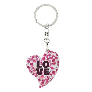 Heart-Shaped Metal Keychain