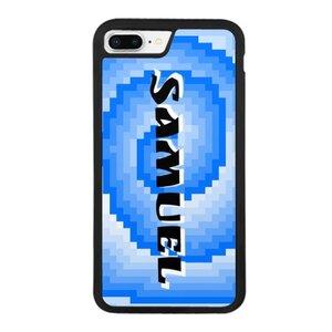 iPhone 8 Plus Blue Pixel Swivel Bumper Case