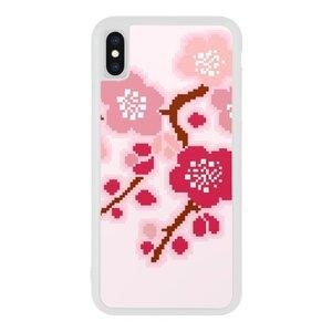 iPhone Xs Bumper Case Pink Flower Design