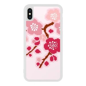 iPhone Xs Bumper Case Pink Flower Design