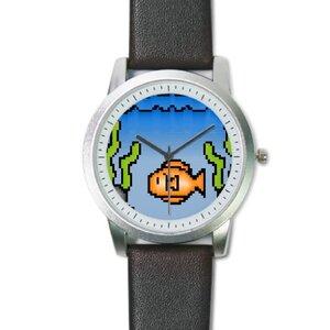 Pixel Pet Fish Design Classic Watch