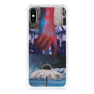 Reach iPhone Xs Transparent Bumper Case(Black aperture )