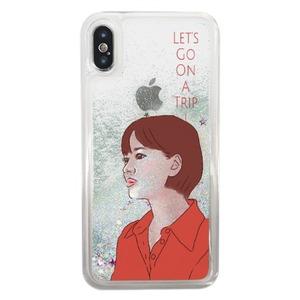 iPhone X 一起旅行吧!女孩流沙殼  / iPhone X Liquid Glitter Case
