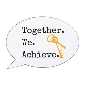 Together We Achieve - Speech Bubble Shaped Light Box -  home, family, couple, key, apartment, house,