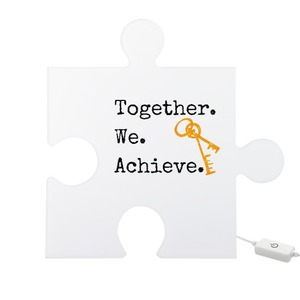 Together we achieve - Puzzle Shaped Light Box - First Time New Home Owner Buyer