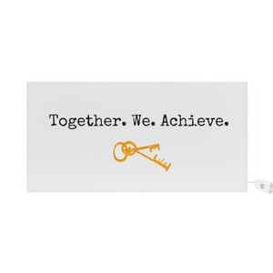 Together We achieve - Housewarming Rectangle Light Box Sign For New Home