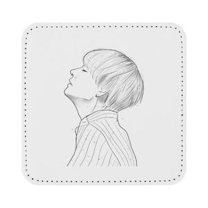 Square Leather Coaster