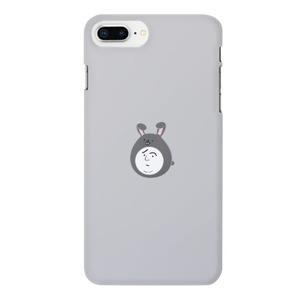Boy in a rabbit hat 兔子帽男子困擾臉(灰)iPhone 8 Plus Matte Case