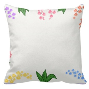 "Flower Throw Pillow 16"" x 16"""