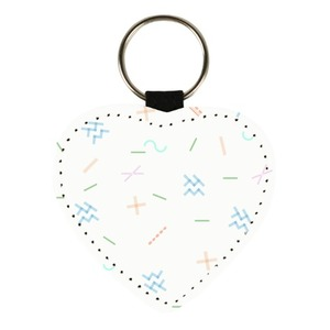 True leather heart-shaped key chain