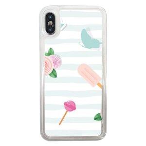 iPhone Xs Liquid Glitter Case