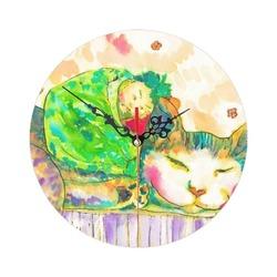 貓咪寶寶掛鐘