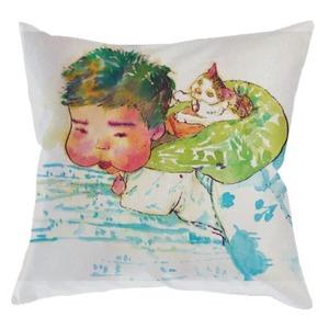 寶寶貓咪麻布抱枕