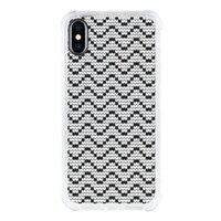 iPhone Xs Transparent Bumper Case(Black aperture )