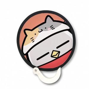 貓咪-扭蛋雞-折疊扇