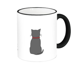 Ahmeow and Kitten Fringe & Handle Color Mug