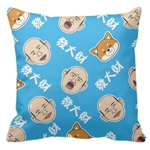 台灣發大財-16x16吋细毛绒抱枕