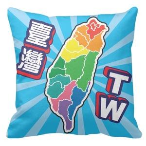 愛台灣 - 16 x 16吋 細毛絨抱枕