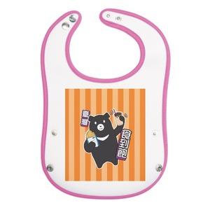 愛台灣 - 嬰兒口水圍巾【台灣黑熊吃小吃】