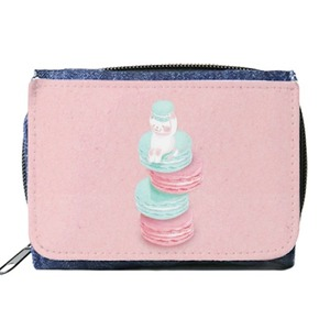 YUZ Design 粉色貓卡龍錢包(含零錢袋) Wallet with Coin Purse