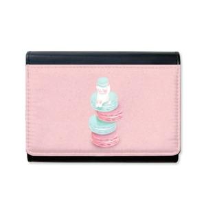 YUZ Design 粉色貓卡龍 皮革錢包(含零錢包) PU Wallet with Coin Purse