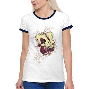 TS-085-01 女裝棉質彩邊圓領T恤
