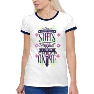 TS-187-01 女裝棉質彩邊圓領T恤